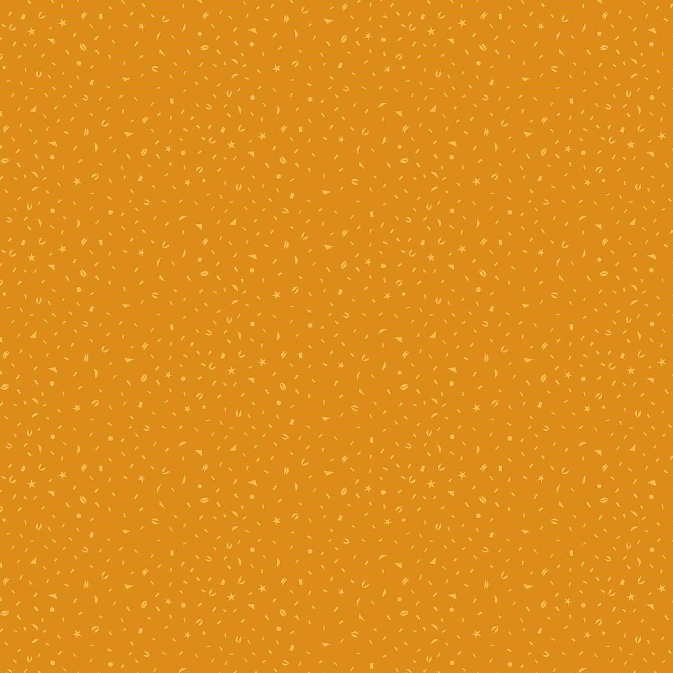 Confetti Mustard from the Tropical Jammin' collection by Figo Fabrics, 100% cotton fabric