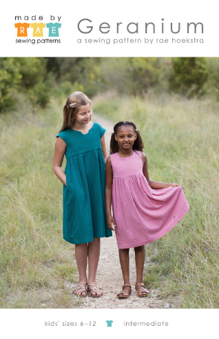 Geranium Childrens Dress Size 6 - 12 Years by Made By Rae