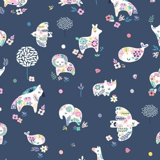 Miniatures Dutch from the No Probllama collection by Dear Stella. 100% Cotton Fabric