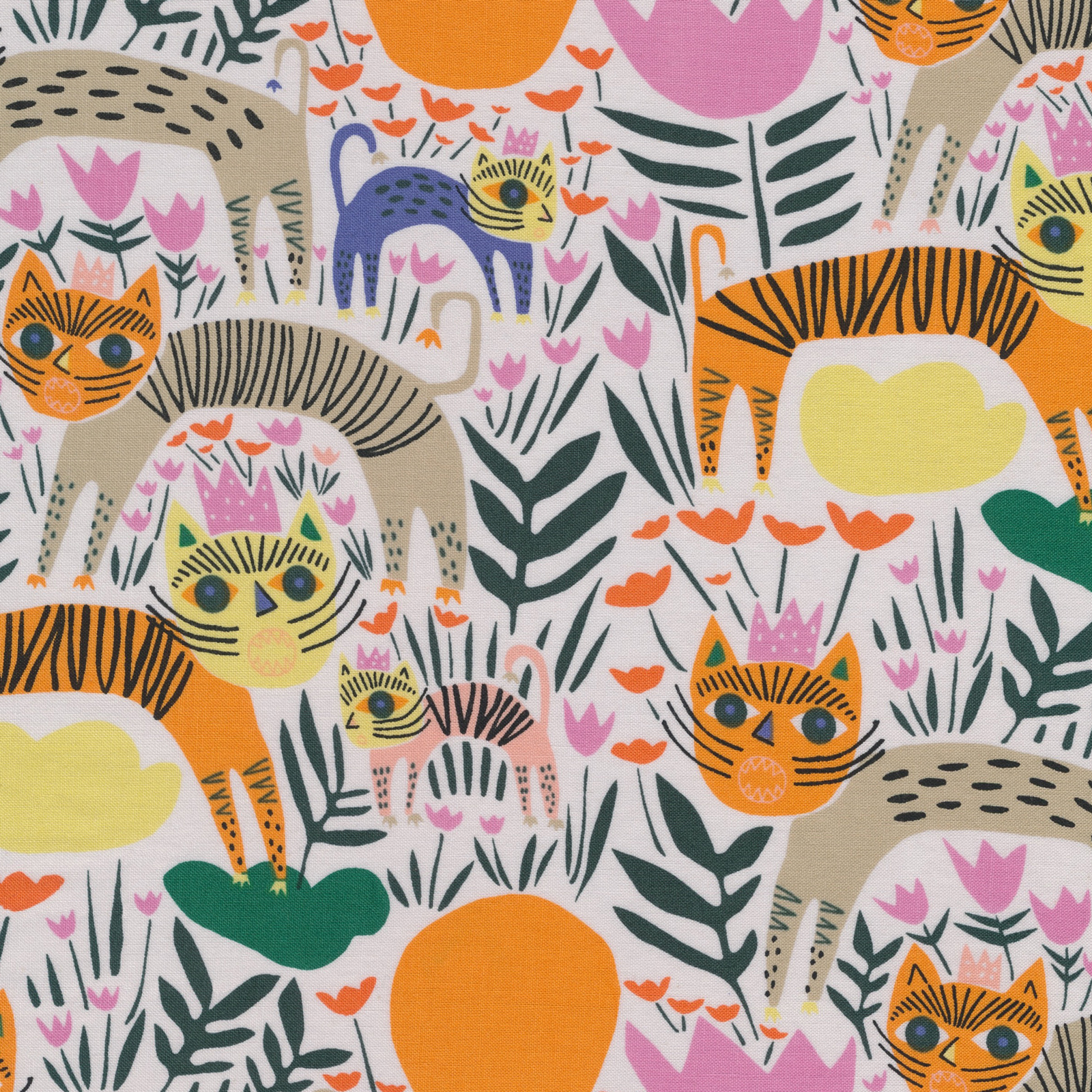 Queen of Beasts from the Wild collection by Cloud9 Fabrics, 100% organic cotton fabric