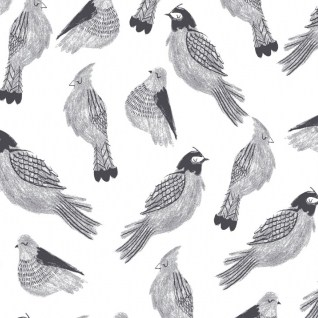 Sleeping-Sparrow-White-Dear-Stella-Black-and-White-Fabric
