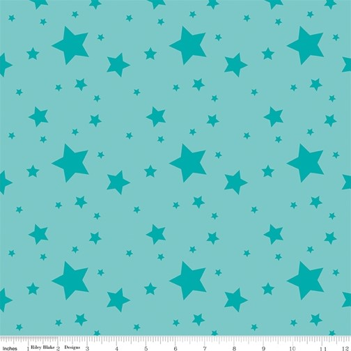 Starlight Aqua from the Create collection by Riley Blake Designs, 100% Modern Cotton Fabric