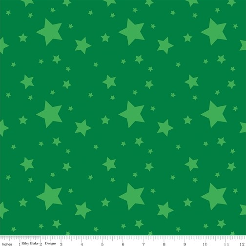 Starlight Dark Green from the Create collection by Riley Blake Designs, 100% Modern Cotton Fabric