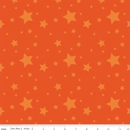 Starlight Orange from the Create collection by Riley Blake Designs, 100% Modern Cotton Fabric